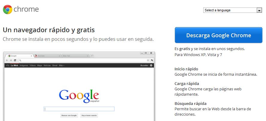 Descargar Google Chrome - Ayuda en la Web