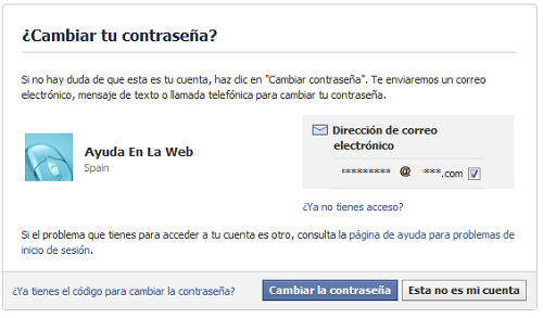 Recuperar la contrase a de facebook ayuda en la web - Con la contrasena puedo sacar el pase ...