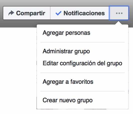 Configuración Grupo Facebook